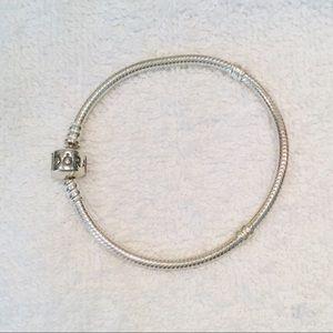 "Pandora Iconic Sterling Silver Charm Bracelet 7"""